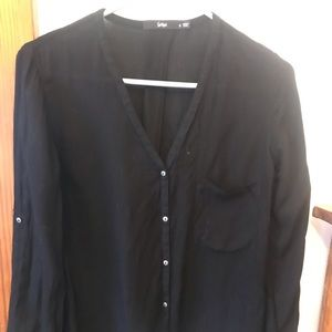 sportsgirl Tops - Sportsgirl black button blouse size 2 US